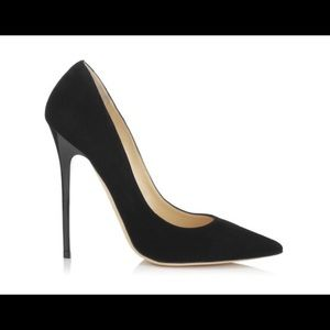 Brand New Jimmy Choo Anouk Black Suede Pumps